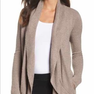 Barefoot Dreams Circle Cardigan in Taupe